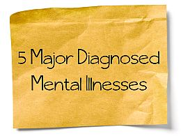 5 major diagnosed mental illnesses