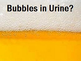 bubbles in urine