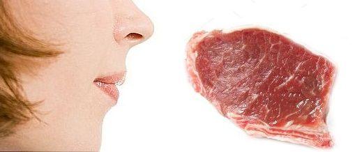 smelling-pork-meat
